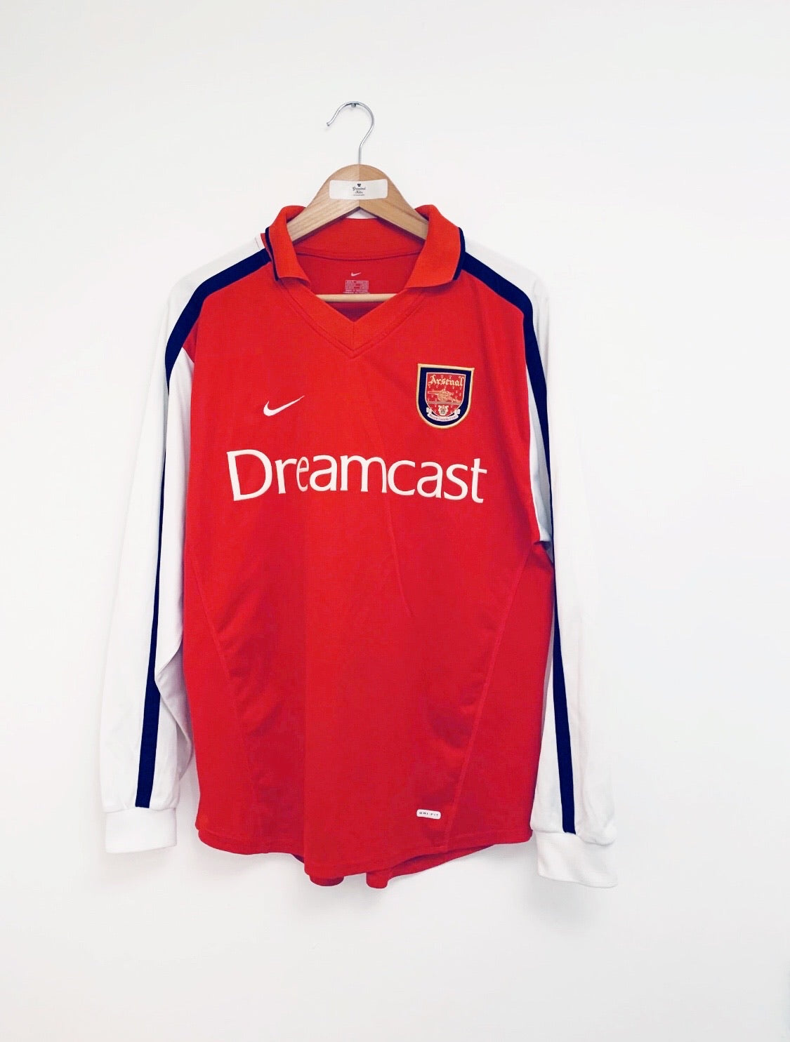 2000/02 Arsenal Home L/S Shirt Jeffers #9 (M) 8.5/10