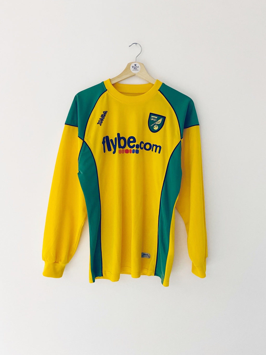 2006/08 Norwich Home L/S Shirt (M) 9.5/10