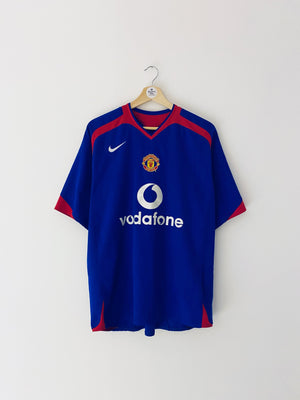 2005/06 Manchester United Away Shirt Heinze #4 (L) 7.5/10