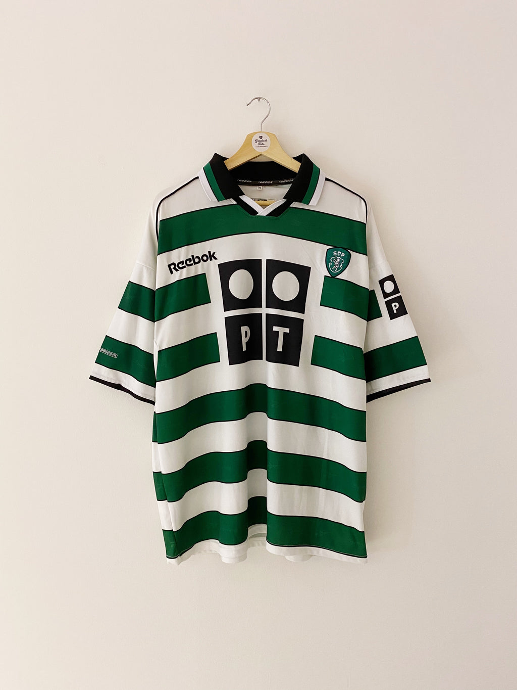 2000/01 Sporting Lisbon Home Shirt (XL) 9/10