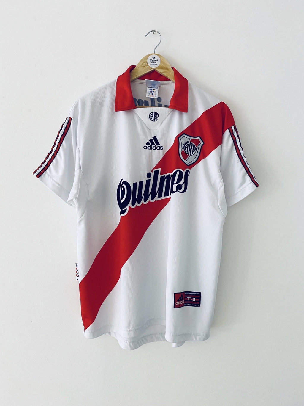 1999/00 River Plate Home Shirt (M) 9/10