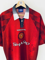 1996/98 Manchester United Home Shirt (XL) 9/10