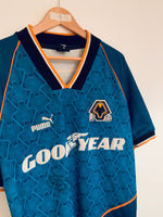 1996/97 Wolves Away Shirt *Signed* (S) 8/10