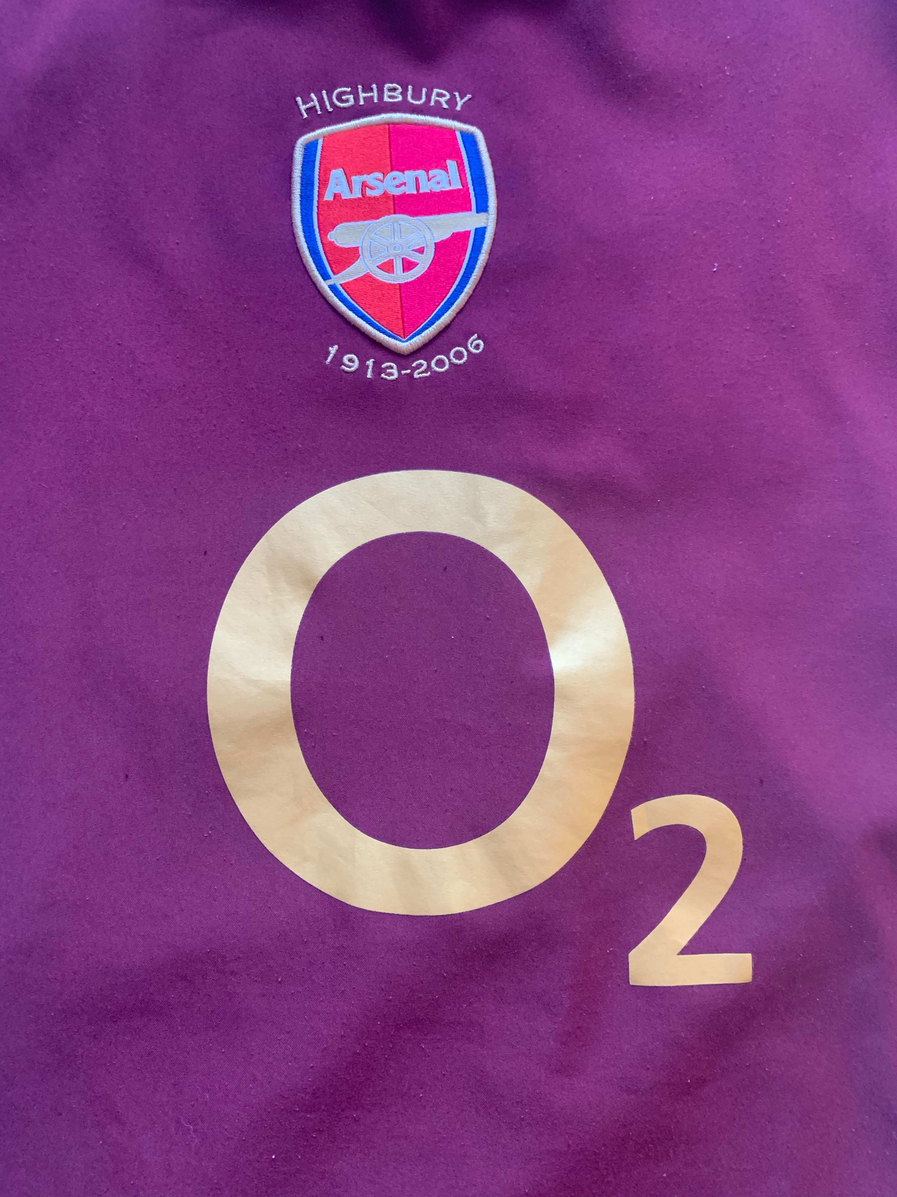 2005/06 Arsenal Home Shirt Bergkamp #10 (L) 9/10
