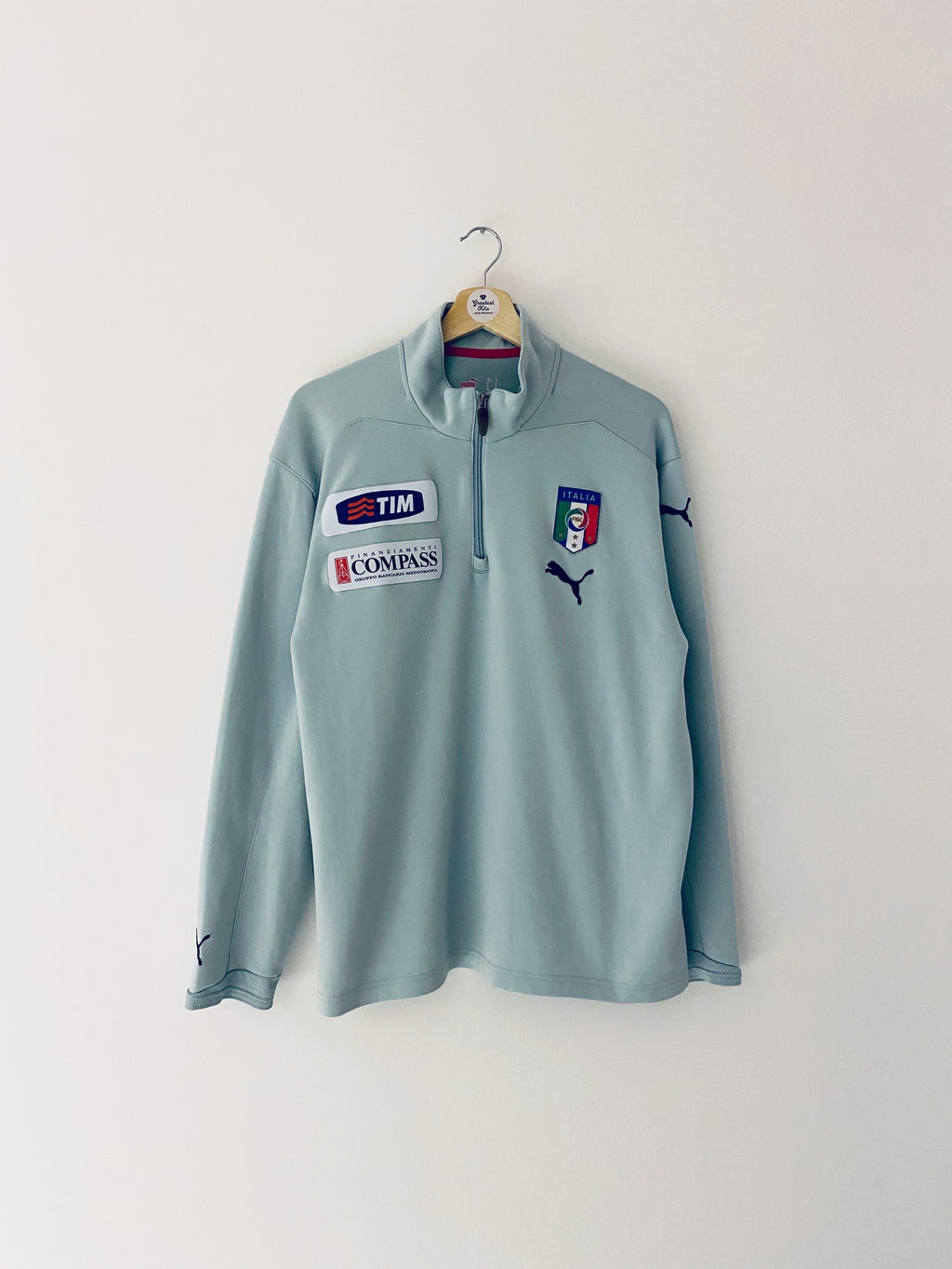2007/08 Italy *Player Issue* 1/2 Zip Training Top (L) 7/10
