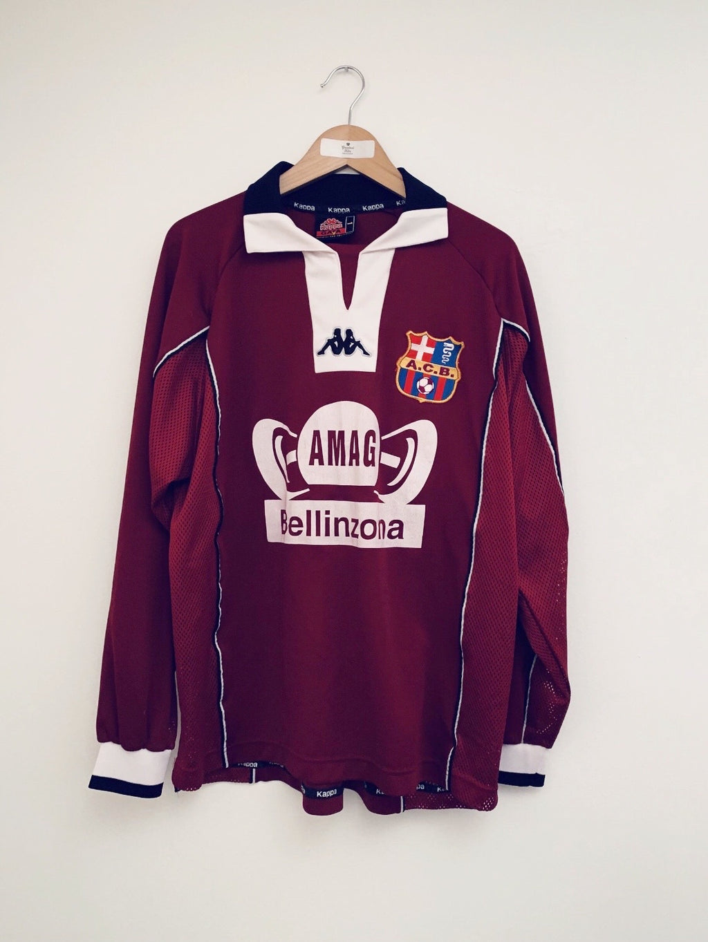 2001/02 AC Bellinzona Home L/S Shirt #19 (L) 8/10