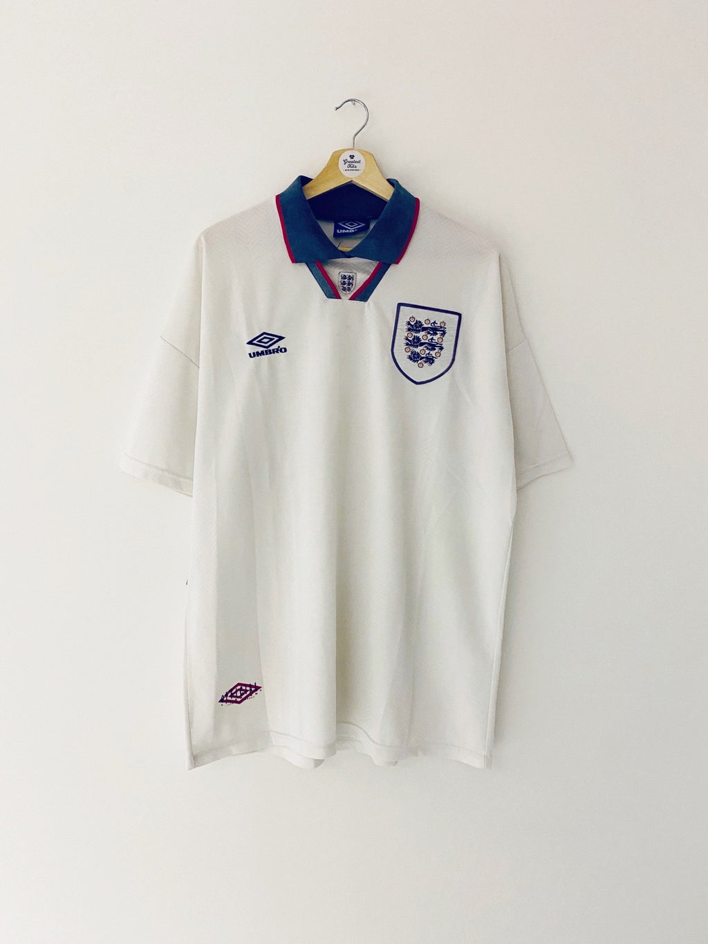 1993/95 England Home Shirt (XL) 6.5/10