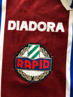 1995/96 Rapid Vienna *Match Issue* Away Shirt #4 (Ivanov) (M) 8.5/10