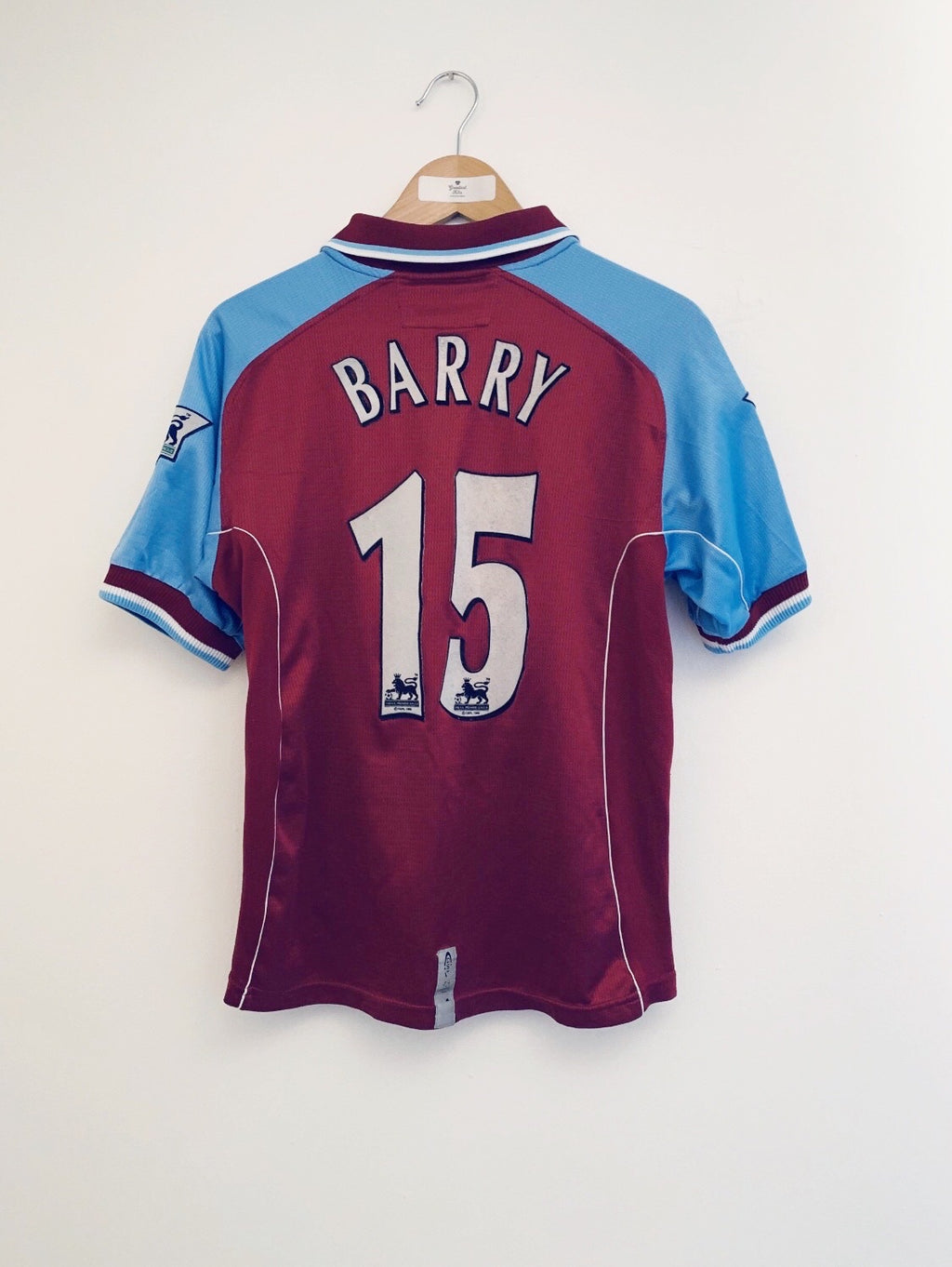 2000/01 Aston Villa Home Shirt Barry #15 (S) 8.5/10