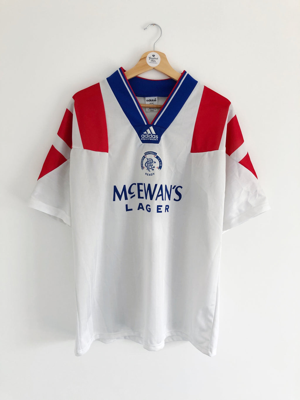 1992/93 Rangers Away Shirt (L) 8/10