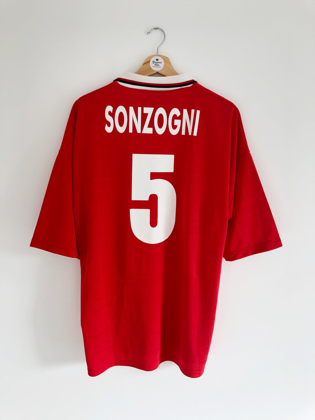 2000/01 AlbinoLeffe Away Shirt Sonzogni #5 (XL) 9/10