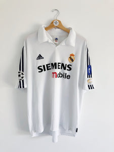 2002/03 Real Madrid Home CL Centenary Shirt (XL) 8/10