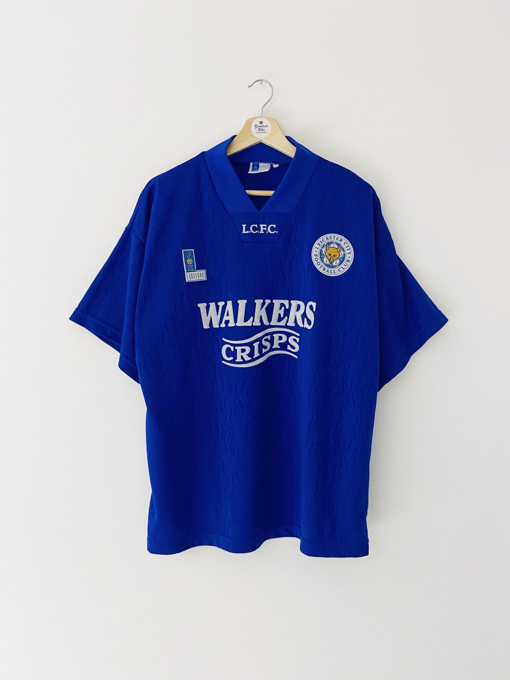 1992/94 Leicester Home Shirt (L) 9/10