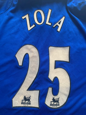2001/03 Chelsea Home Shirt Zola #25 (L)