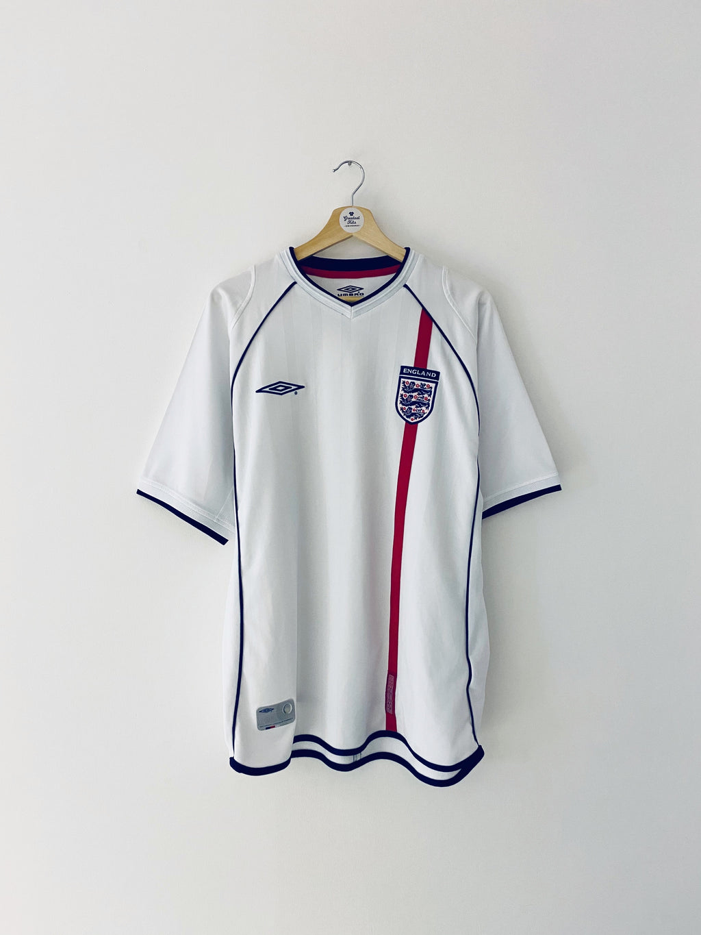 2001/03 England Home Shirt (L) 8/10