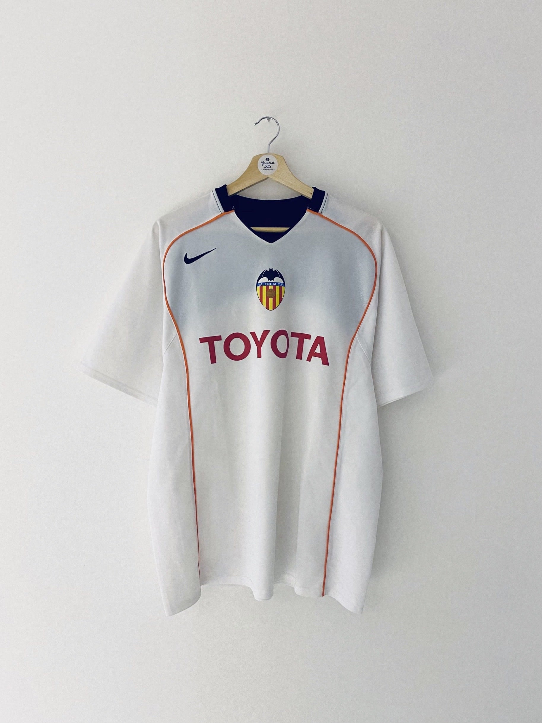 2004/05 Valencia Home Shirt (M) 8.5/10