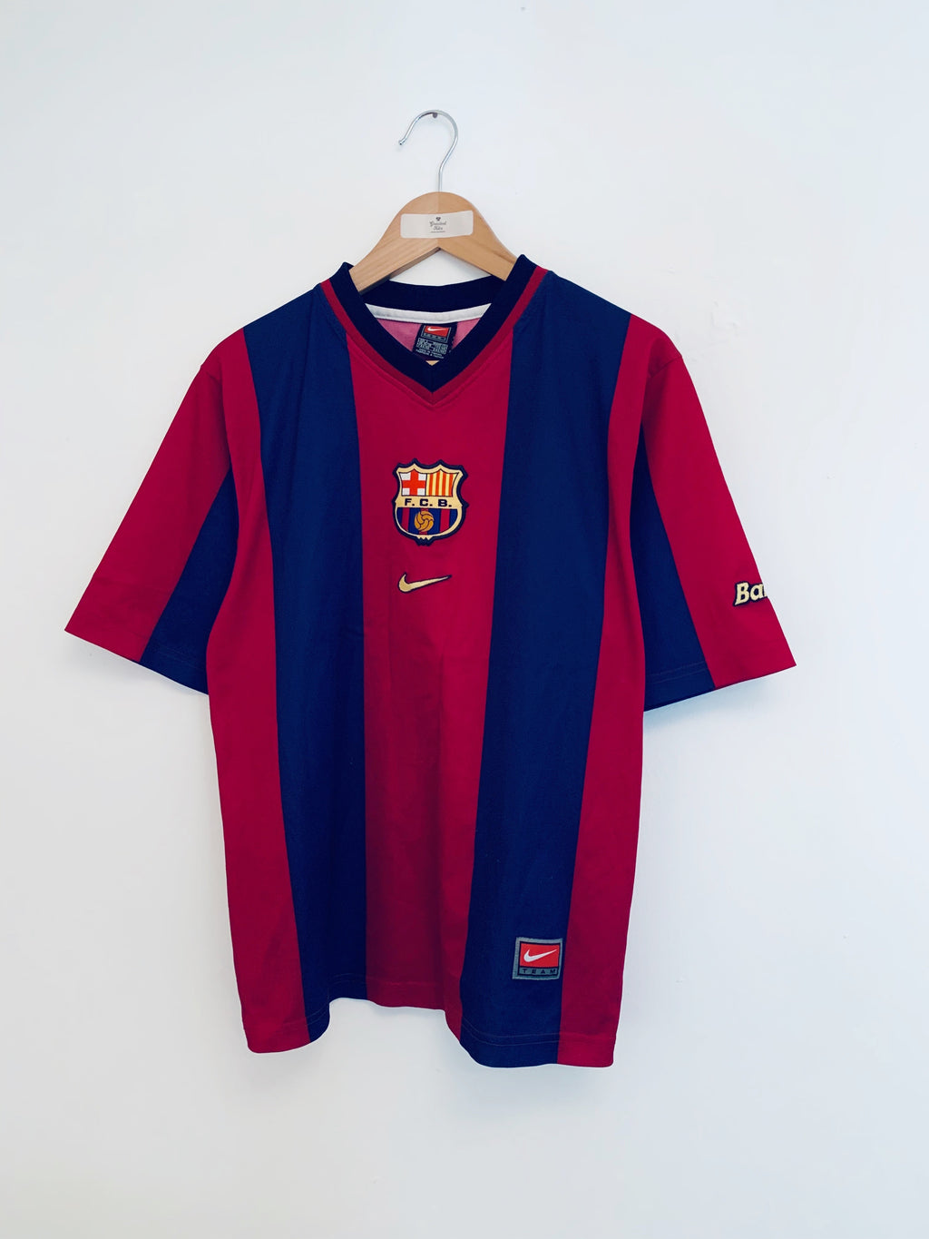 1998/00 Barcelona Basic Home Shirt (S) 8.5/10