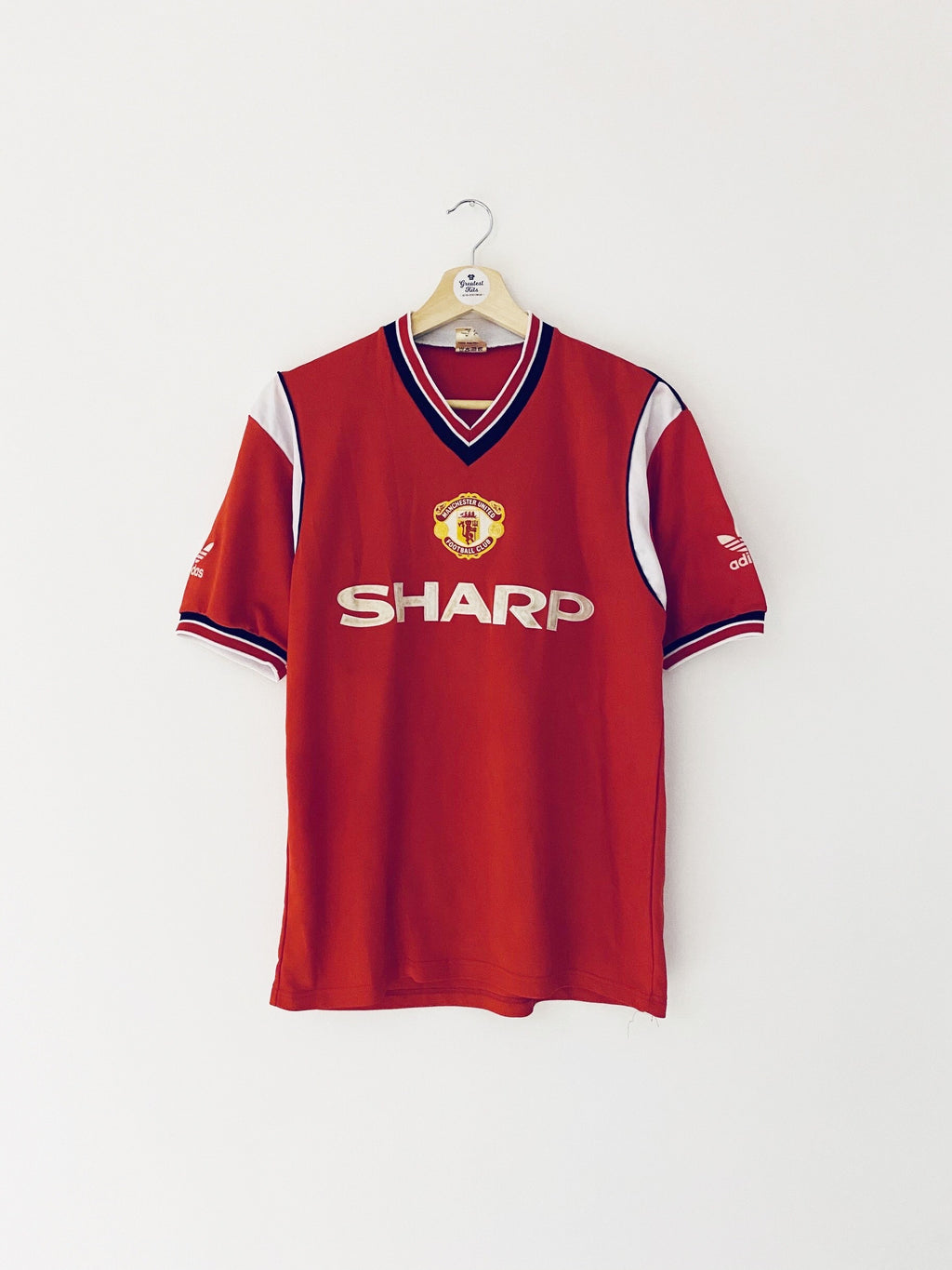 1984/86 Manchester United Home Shirt (L) 8/10
