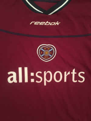 2002/04 Hearts Home L/S Shirt (L) 9/10