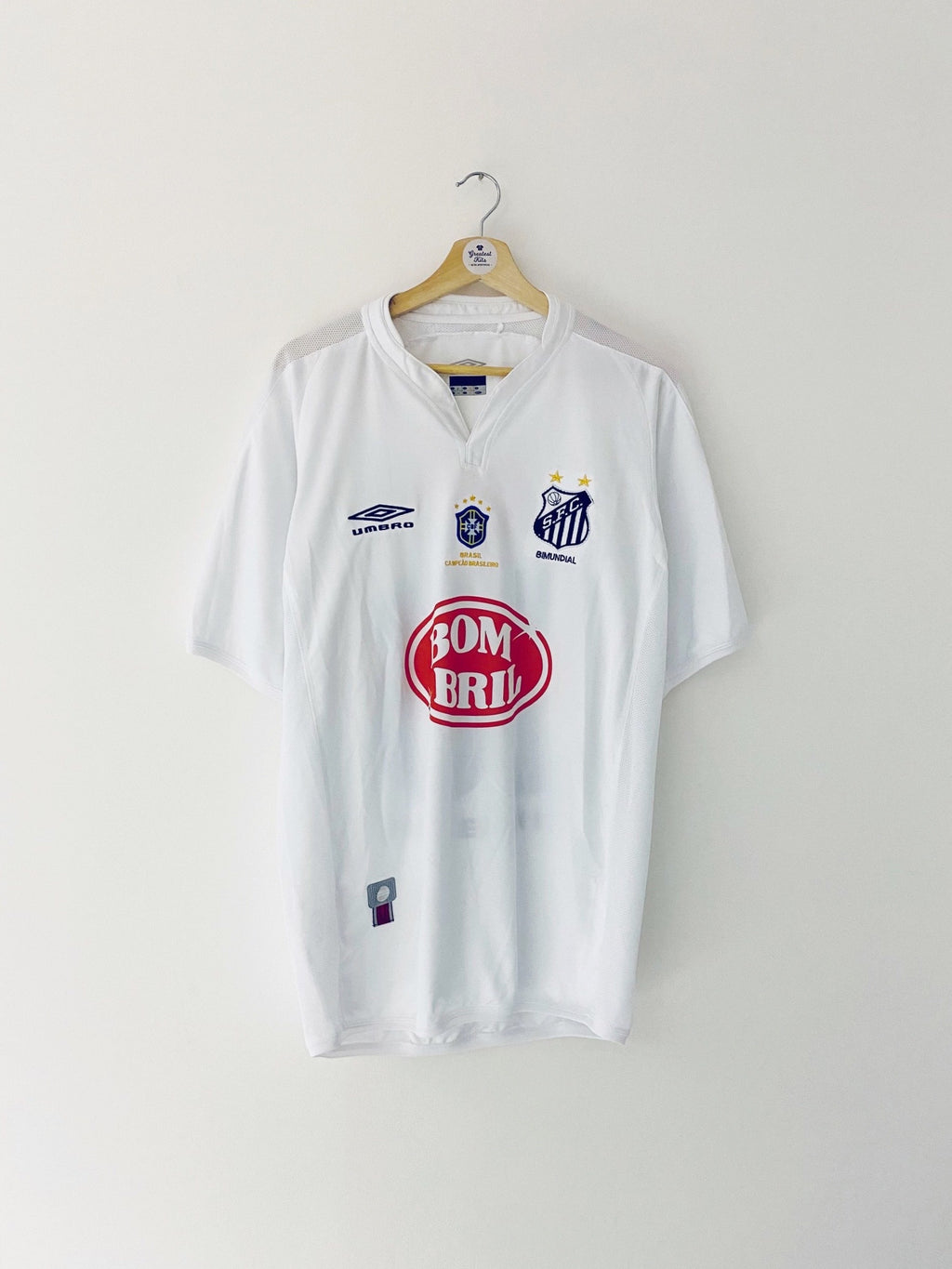 2003 Santos Home Shirt #10 (Diego) (L) 9/10