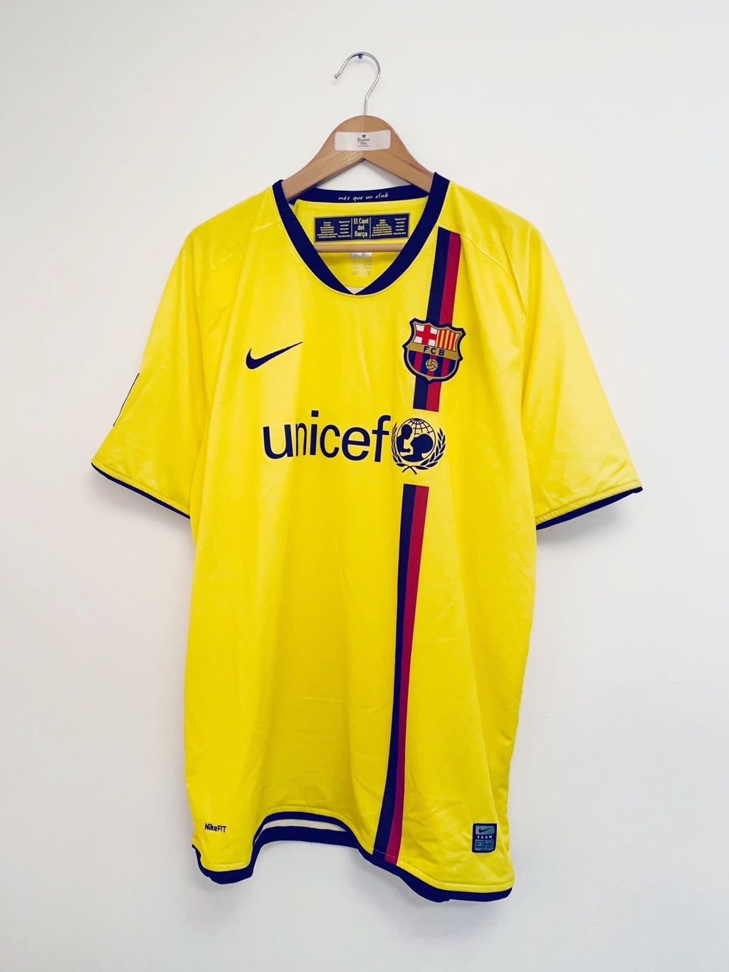 2008/10 Barcelona Away Shirt (XL) 9.5/10