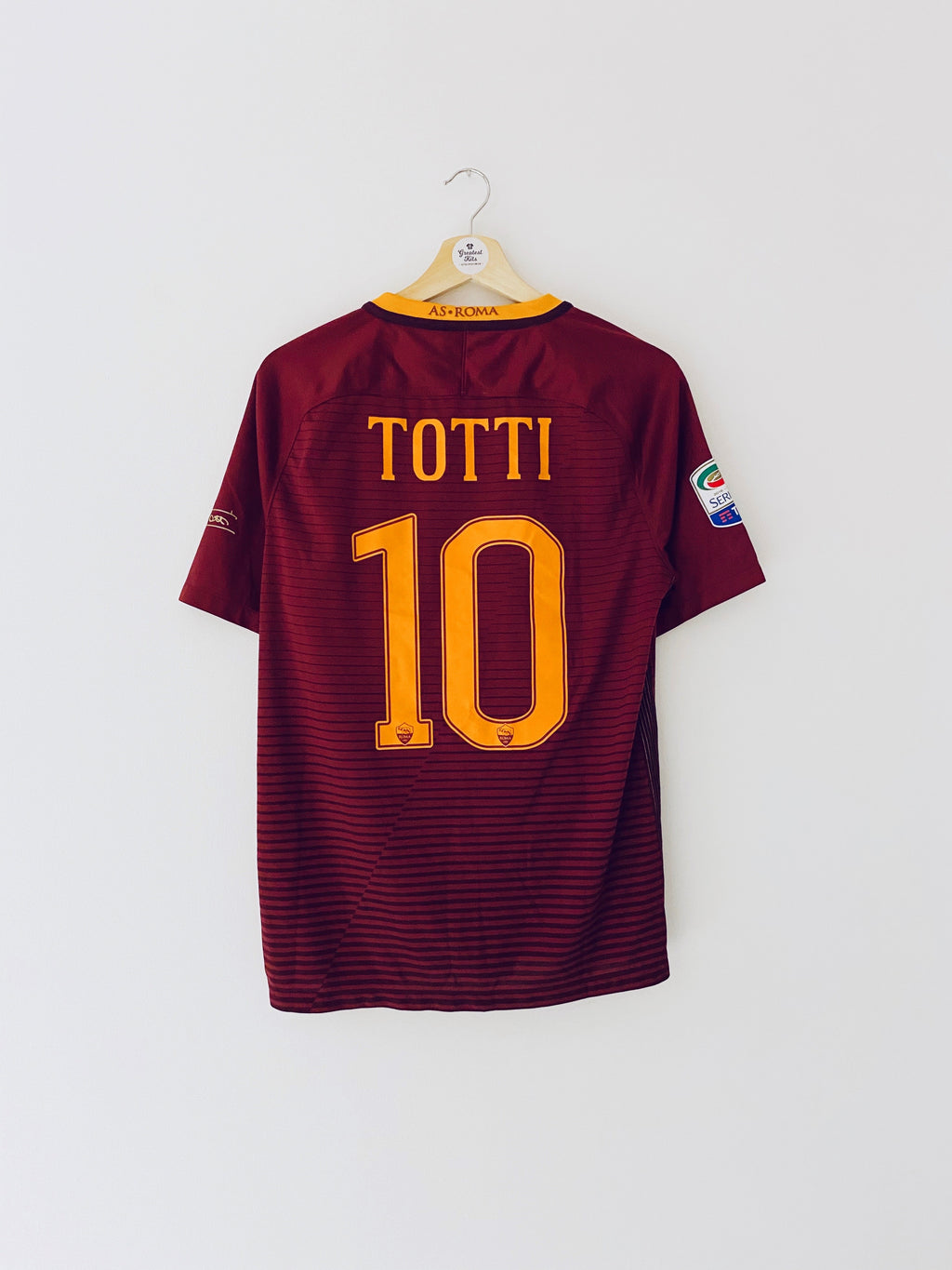 2016/17 Roma Home *Signed Edition* Shirt Totti #10 (M) 10/10