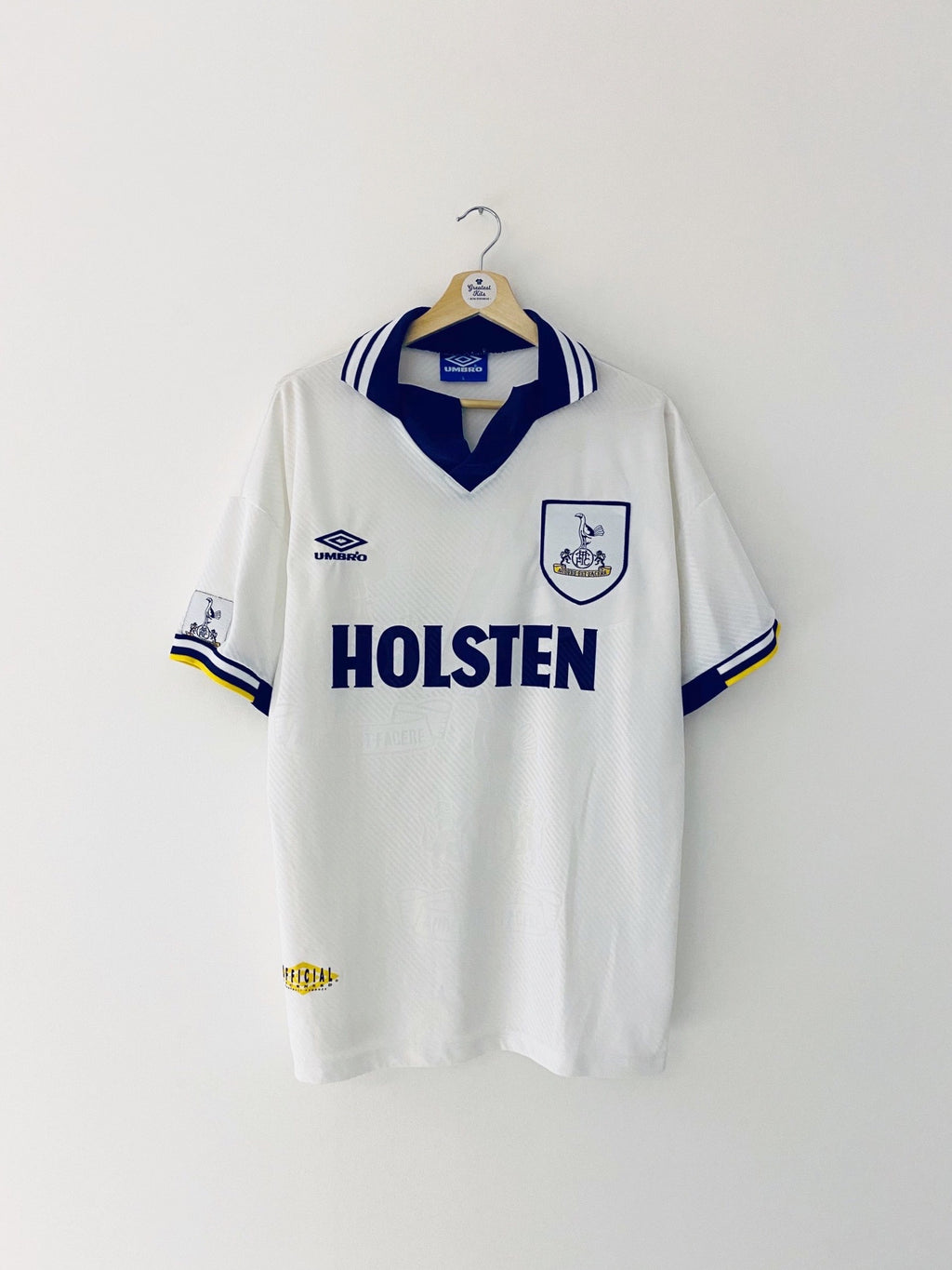 1993/95 Tottenham Home Shirt (L) 9/10