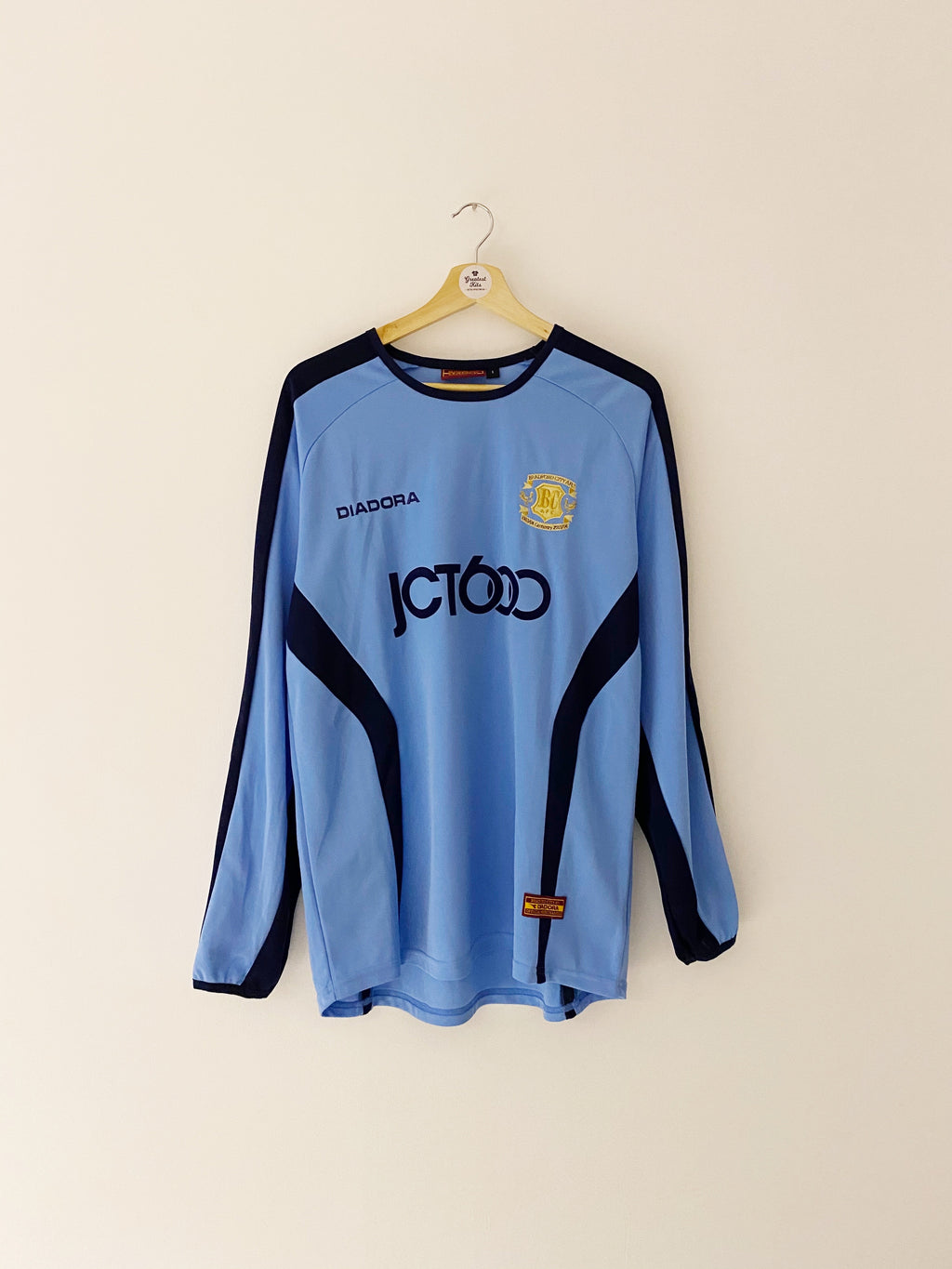 2003/04 Bradford City Away Centenary L/S Shirt (S) 9/10