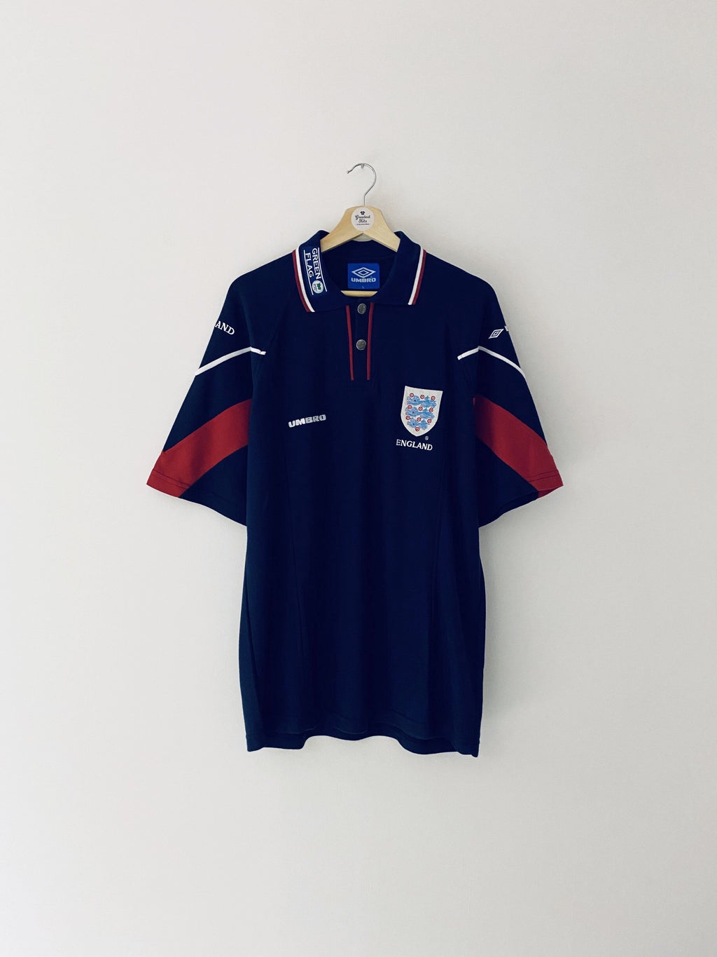 1997/99 England Polo Shirt (L) 9.5/10