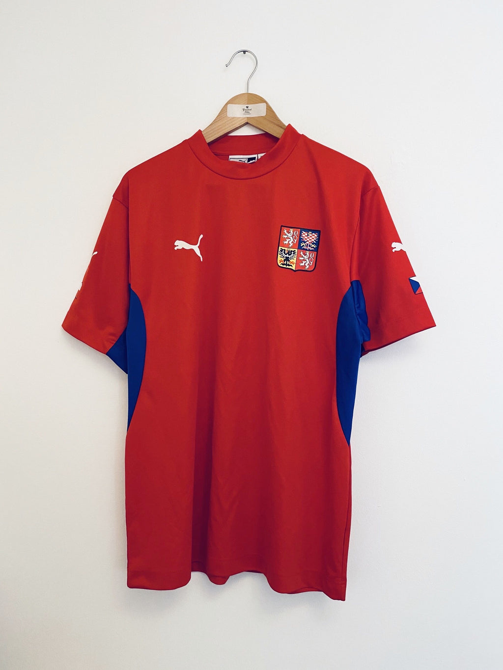 2002/04 Czech Republic Basic Home Shirt (XL) 9/10