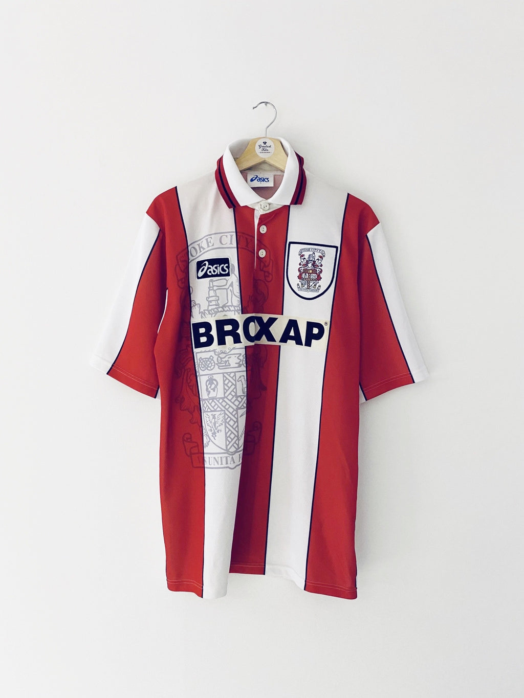 1995/96 Stoke City Home Shirt (L) 9/10