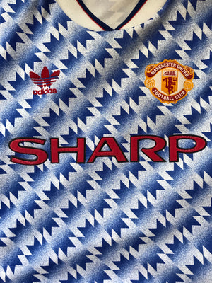 1990/92 Manchester United Away Shirt (M) 8/10