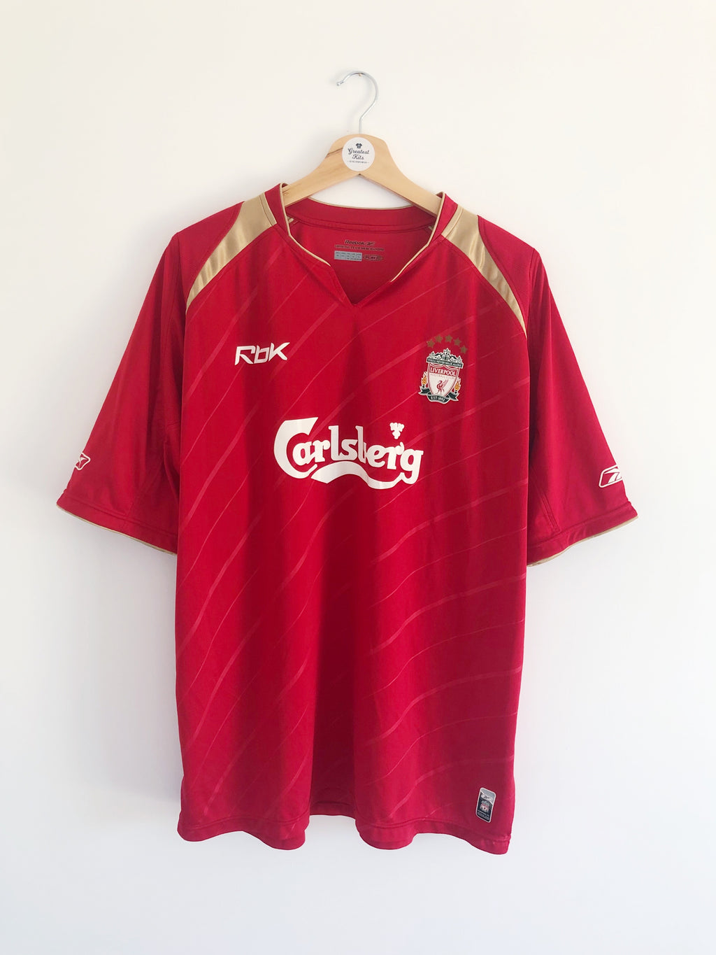 2005/06 Liverpool CL Home Shirt (XL) 8.5/10