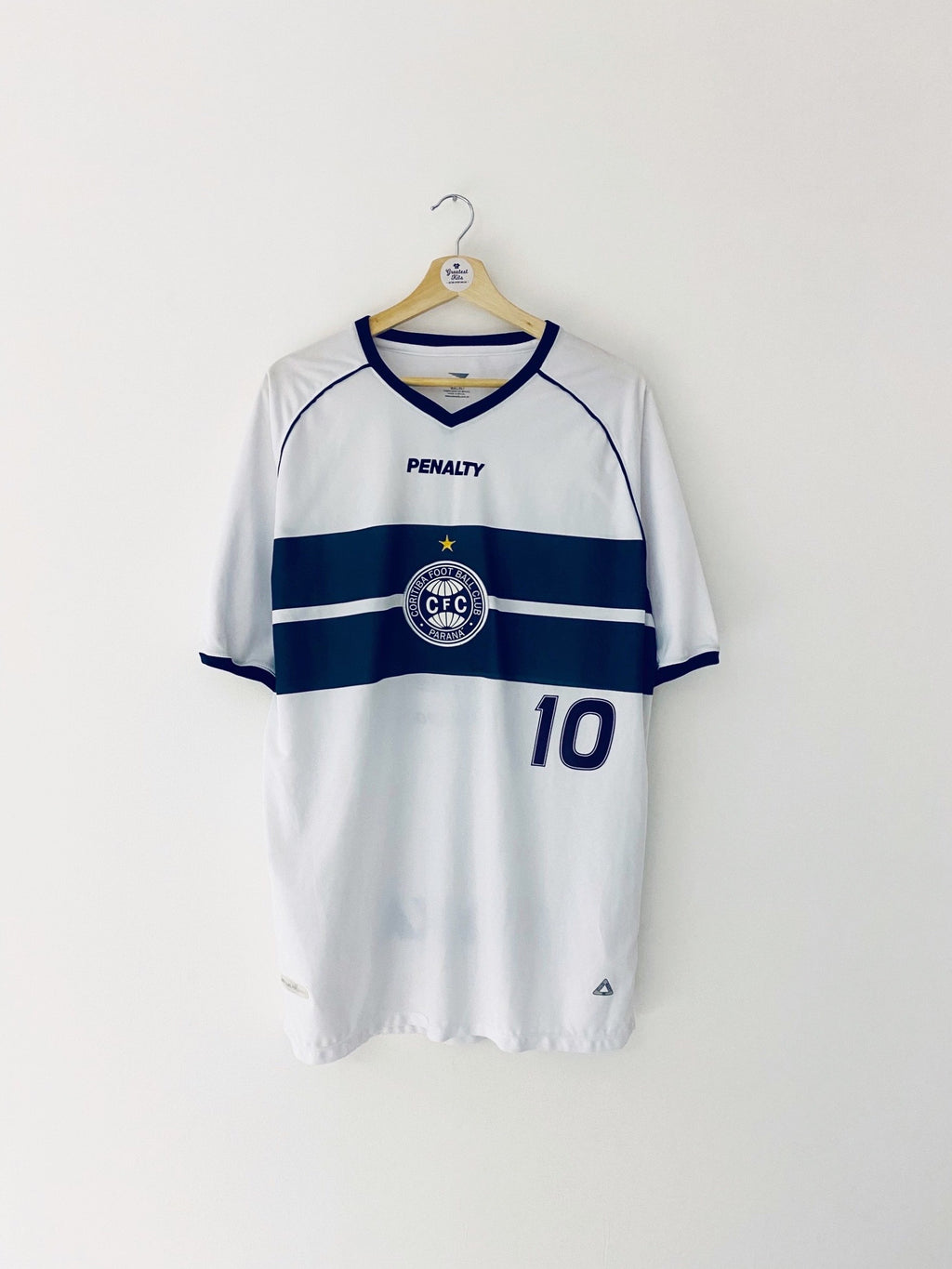 2002 Coritiba Home Shirt #10 (XL) 9/10