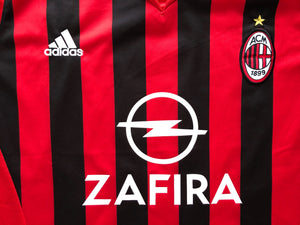 2005/06 AC Milan Home Shirt Inzaghi #9 (XL) 9/10