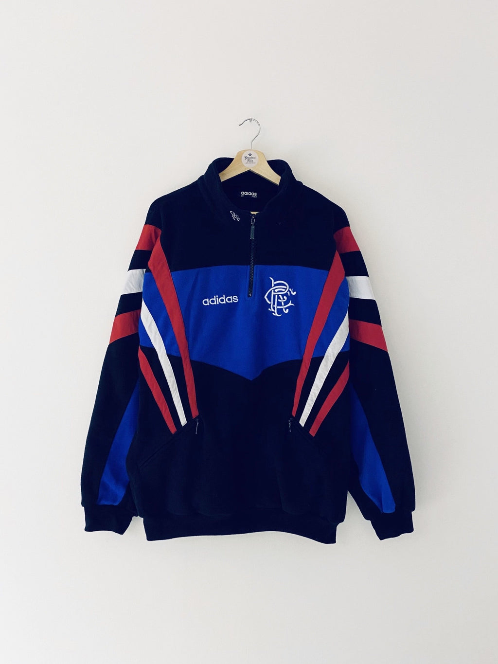 1996/97 Rangers Fleece Training Top (L/XL) 9/10