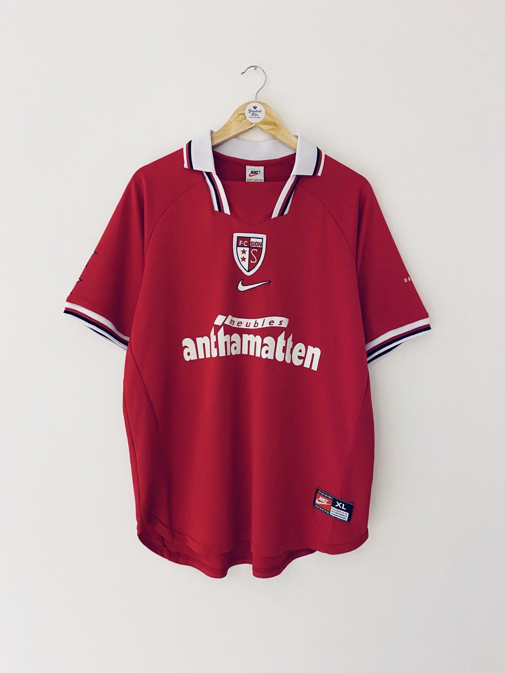 1998/00 FC Sion Away Shirt (XL) 9/10