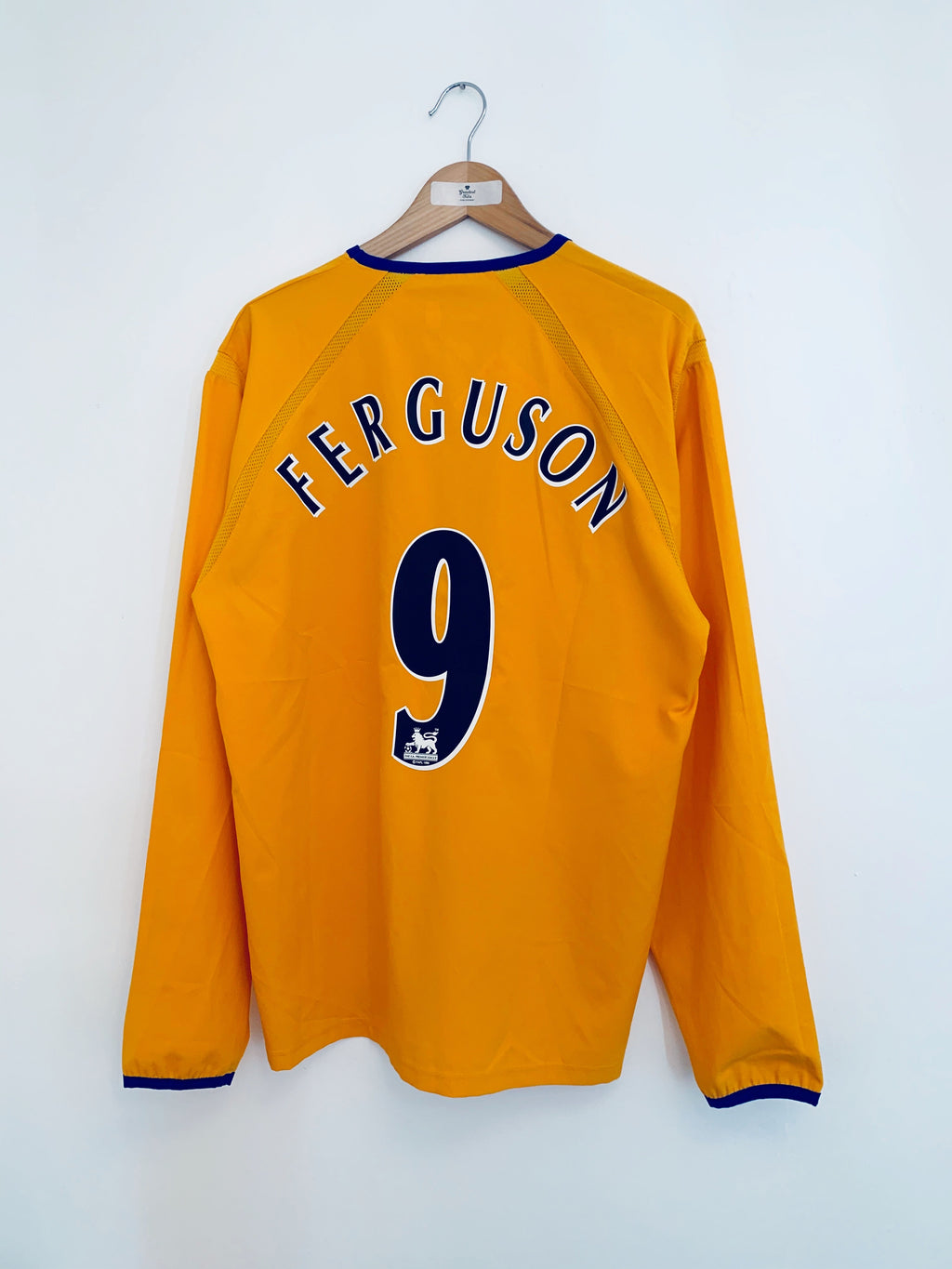 2003/04 Everton Away L/S Shirt Ferguson #9 (L) 9.5/10
