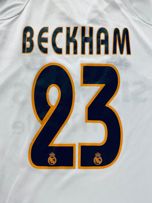2004/05 Real Madrid Home Shirt Beckham #23 (M) 9.5/10