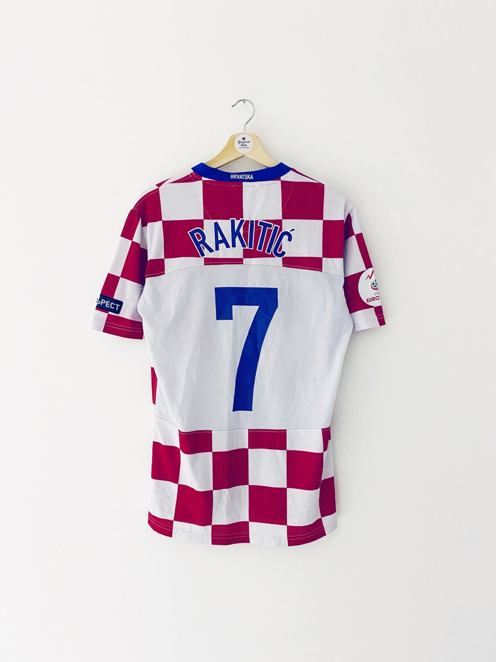 2008 Croatia Home Shirt Rakitic #7 (L) 7.5/10