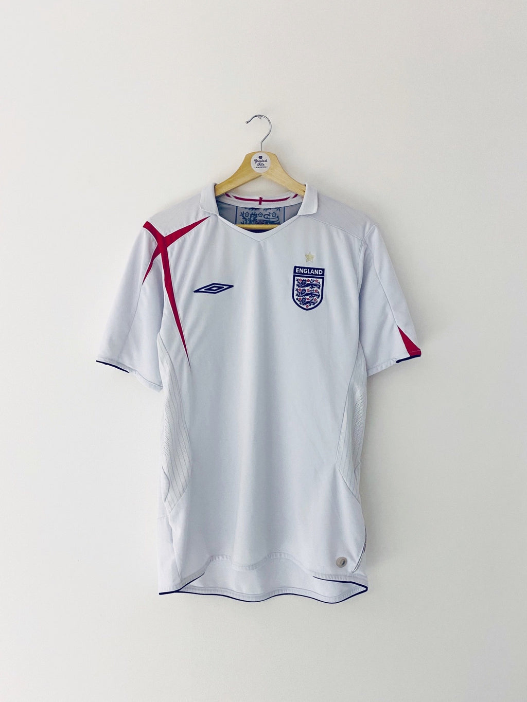 2005/07 England Home Shirt (L) 6.5/10