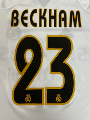 2004/05 Real Madrid Home Shirt Beckham #23 (S) 9/10