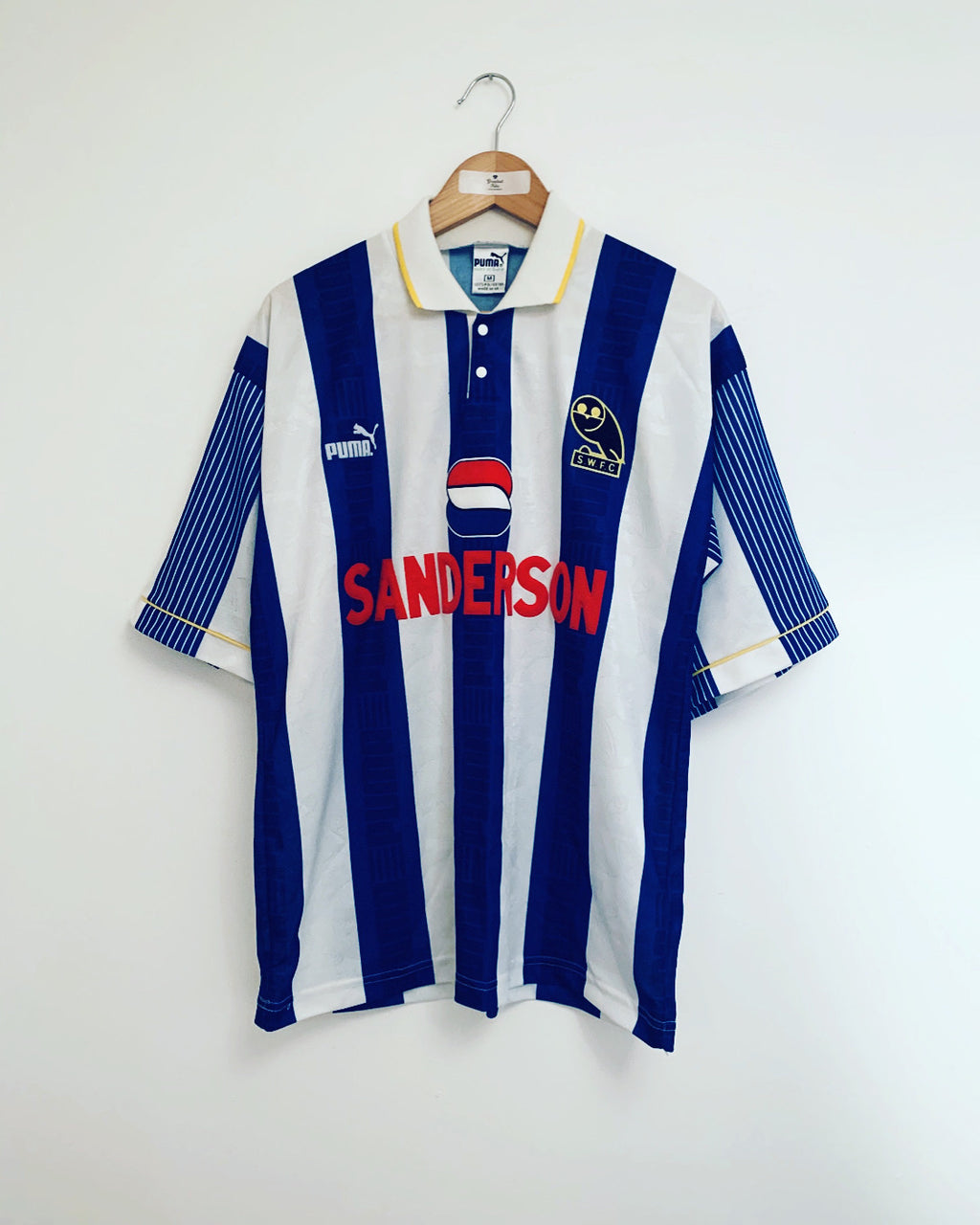 1993/95 Sheffield Wednesday Home Shirt (M) 9.5/10