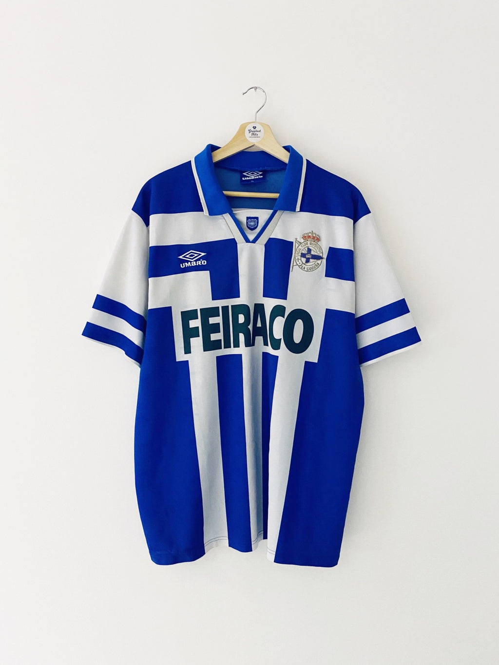 1994/97 Deportivo Home Shirt (XL) 9/10