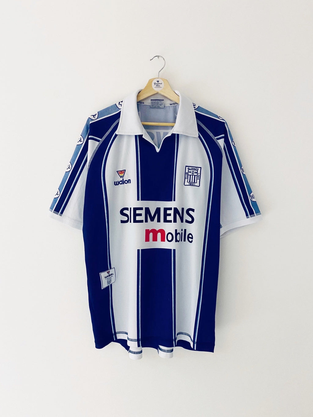2003/04 Alianza Lima Home Shirt #7 (XL) 9/10