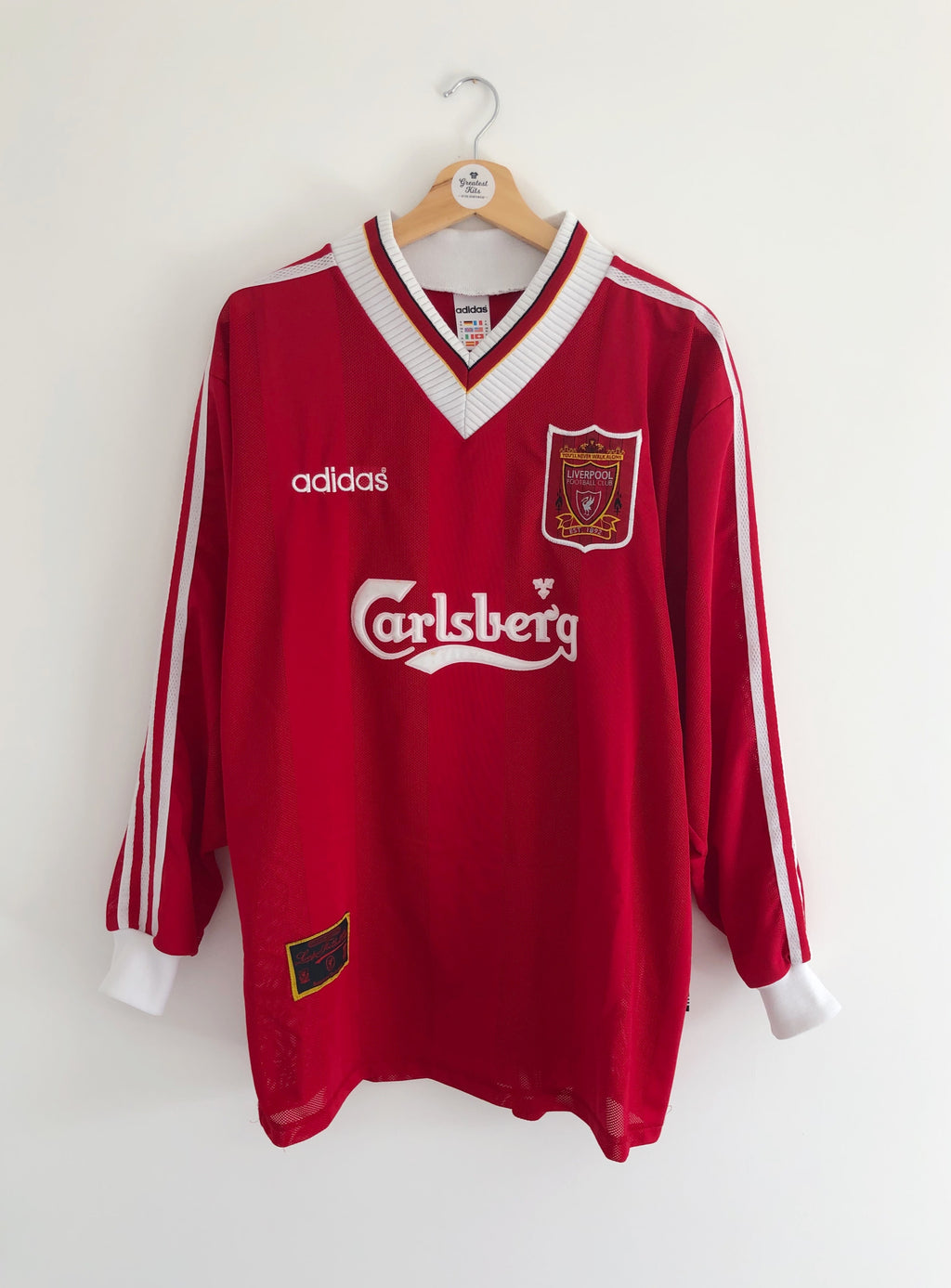 1995/96 Liverpool Home L/S Shirt (XL) 9/10
