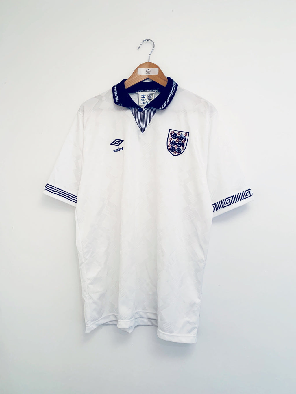 1990/92 England Home Shirt (L) 9/10