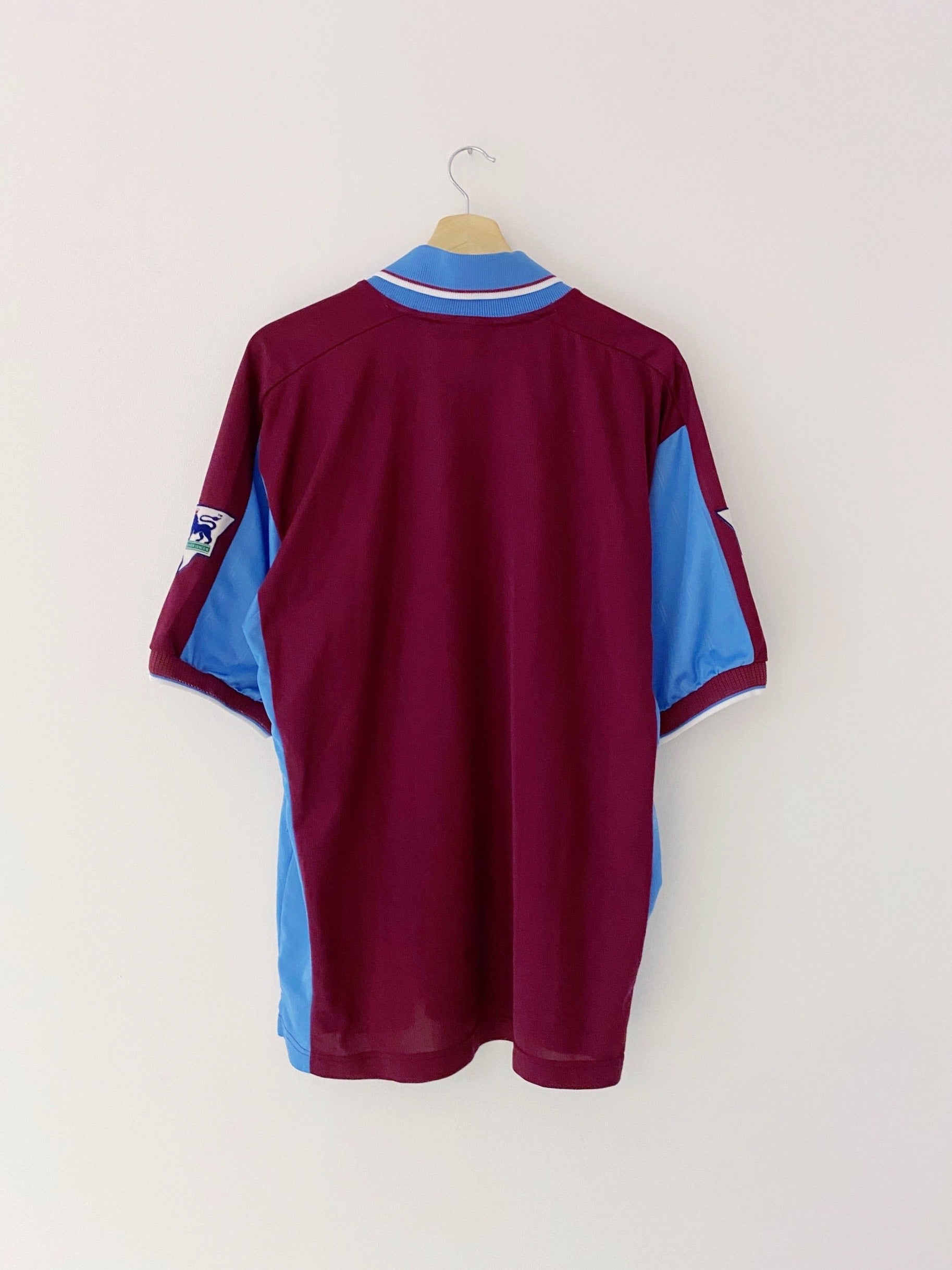 1997/98 West Ham Home Shirt (L) 9/10