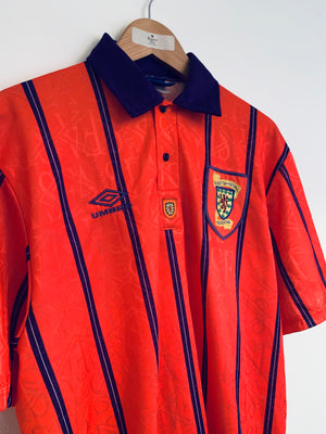 1993/95 Scotland Away Shirt (XL) 8.5/10
