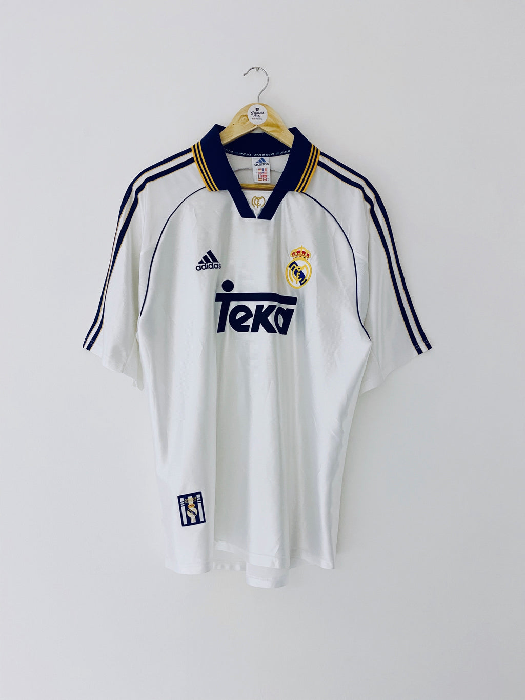 1998/00 Real Madrid Home Shirt (L) 8.5/10